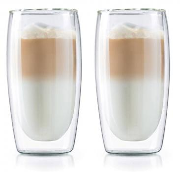 2er Set Thermo Latte Macchiato - Cafe Gläser 350ml