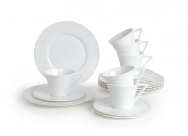 18tlg. Kaffeeservice Bone China Strato