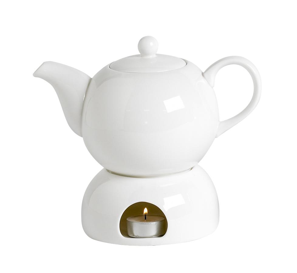 Teekanne Porzellan Mit Stövchen haushaltswaren depot de 1l teekanne mit stövchen