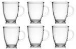 6 Kaffee- / Teebecher Glas 400ml Joe